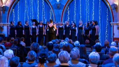 The West of Scotland Military Wives Choir at Maggie's Glasgow Christmas Concert, Oran Mor, 7th Dec 2014